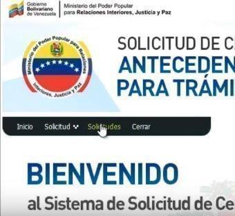 antecedentes penales en venezuela