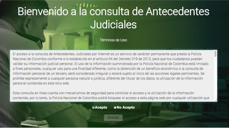 certificado de antecedentes judiciales colombia